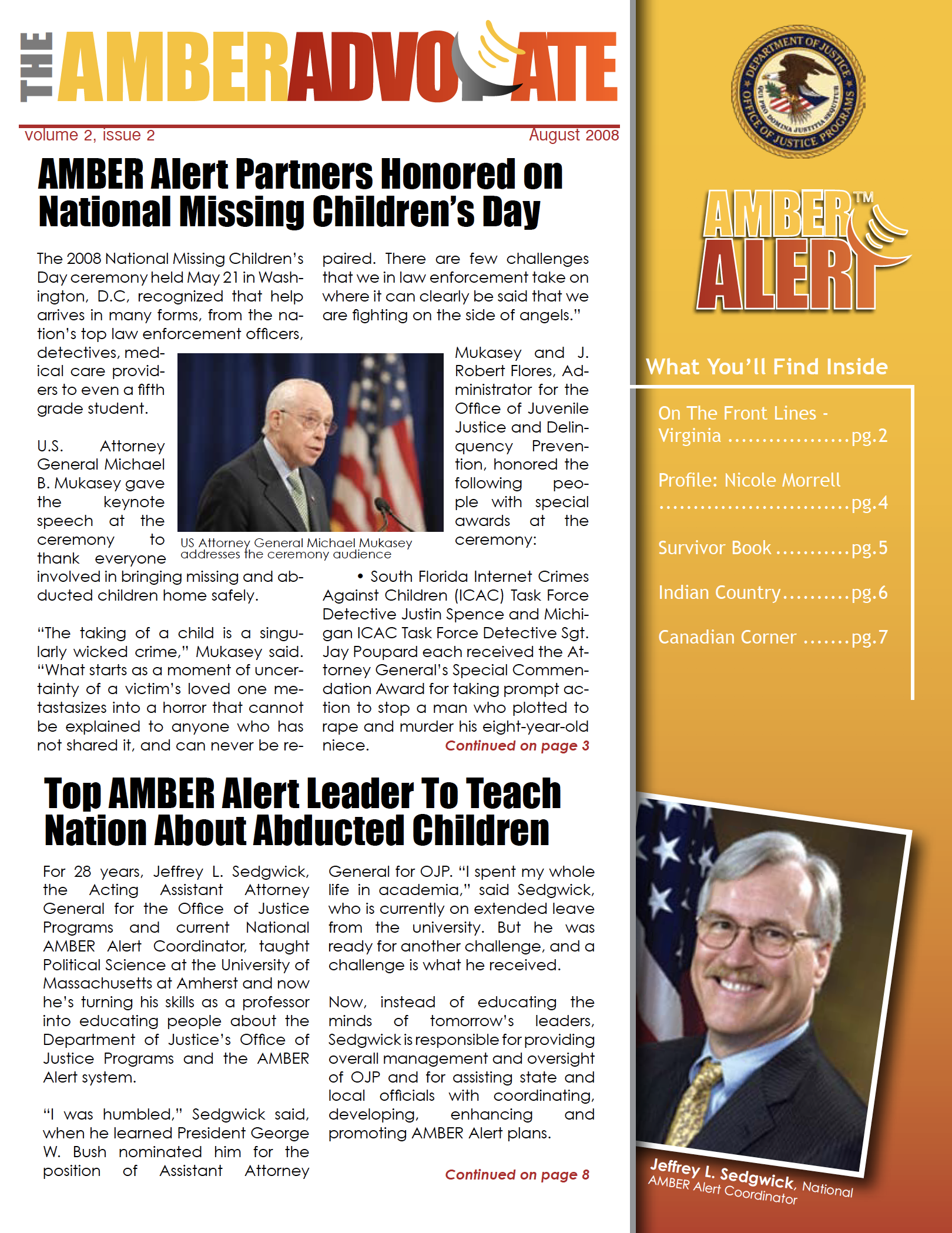 AMBER Advocate 6 cover