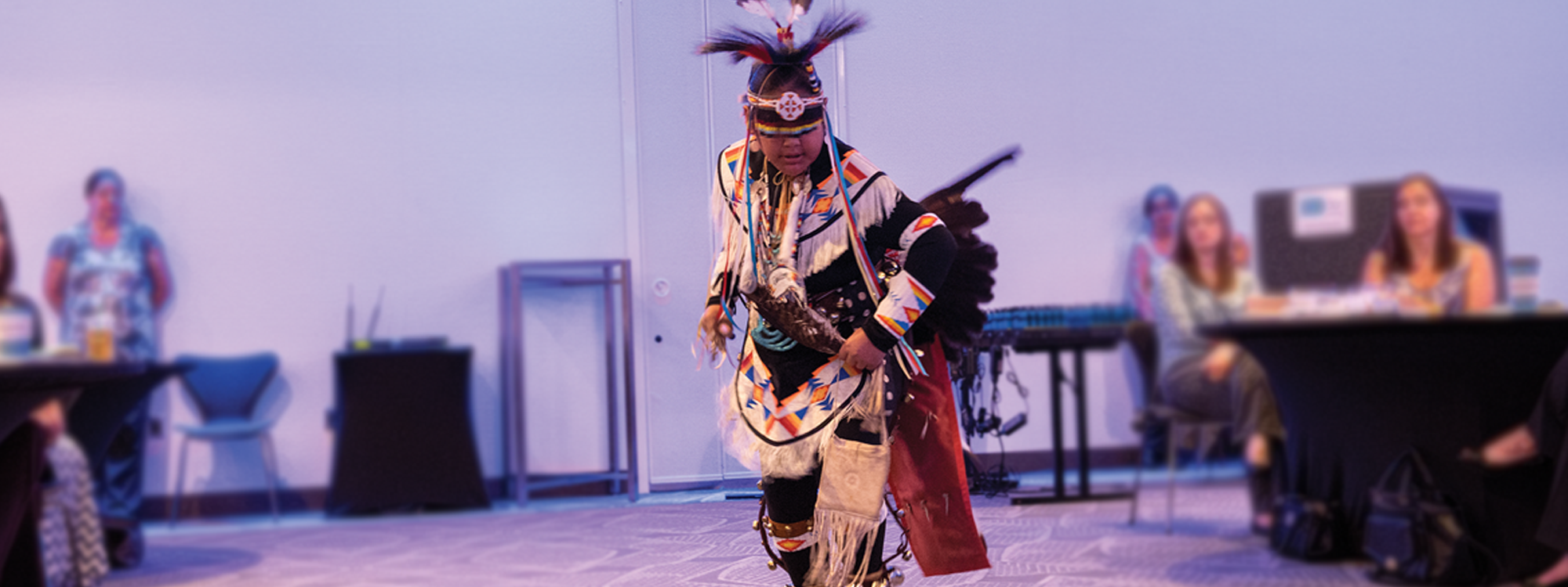 Ashton Fish's tribal dance for the children