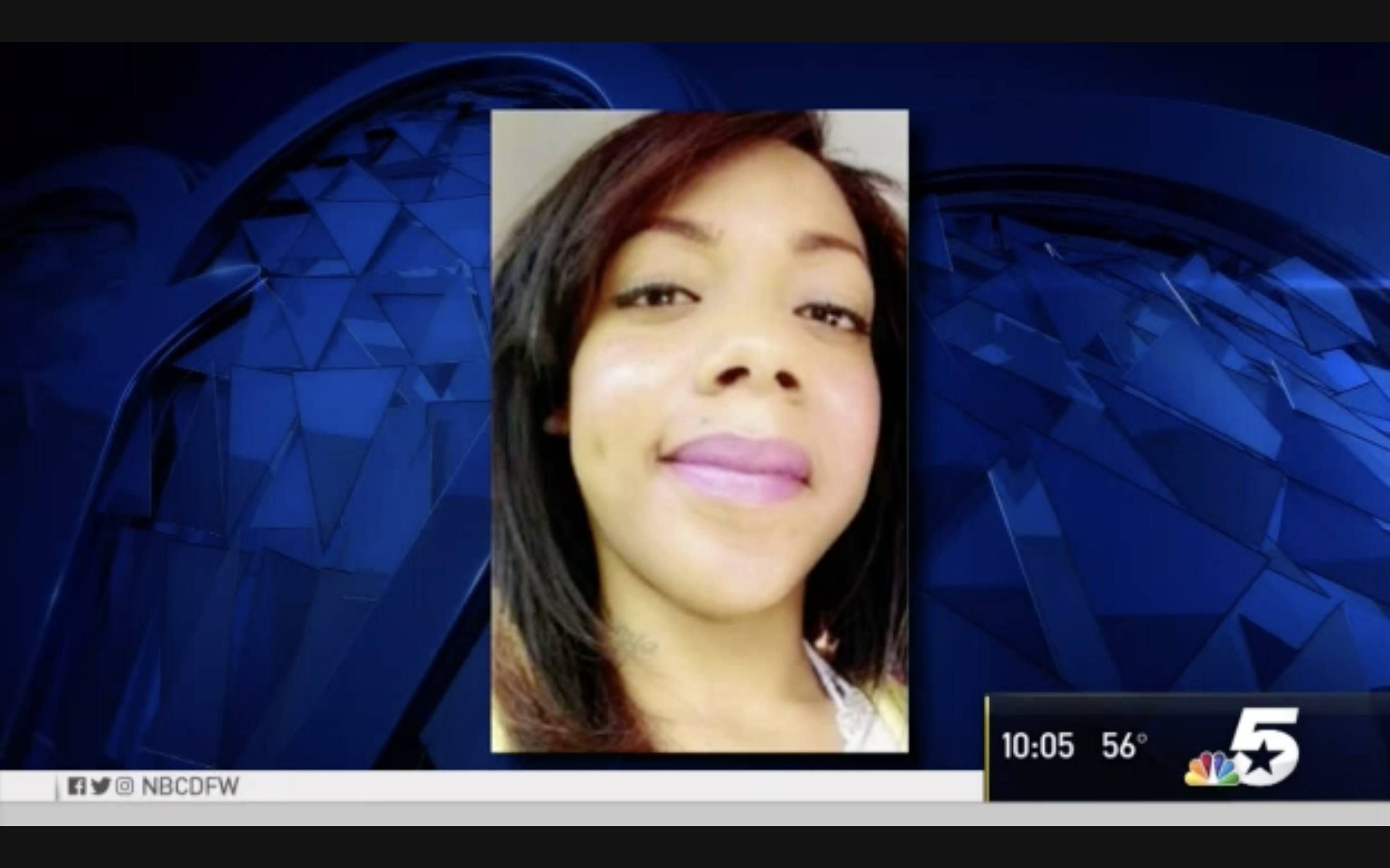 News footage of missing woman