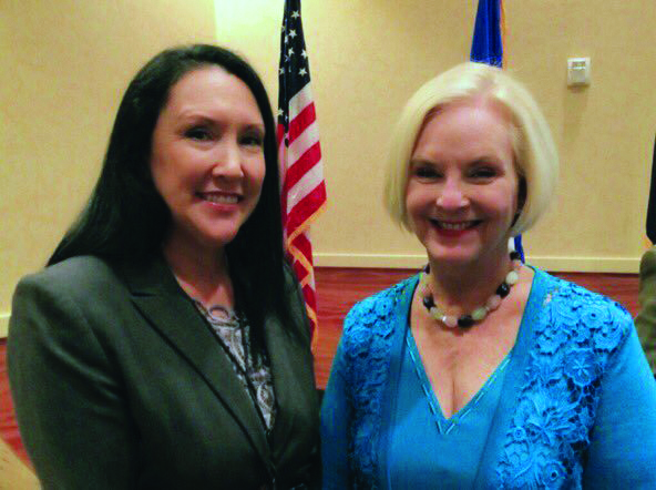 Geri Wisner and Cindy McCain