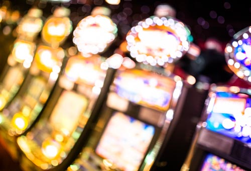 defocus Slot machine casino background