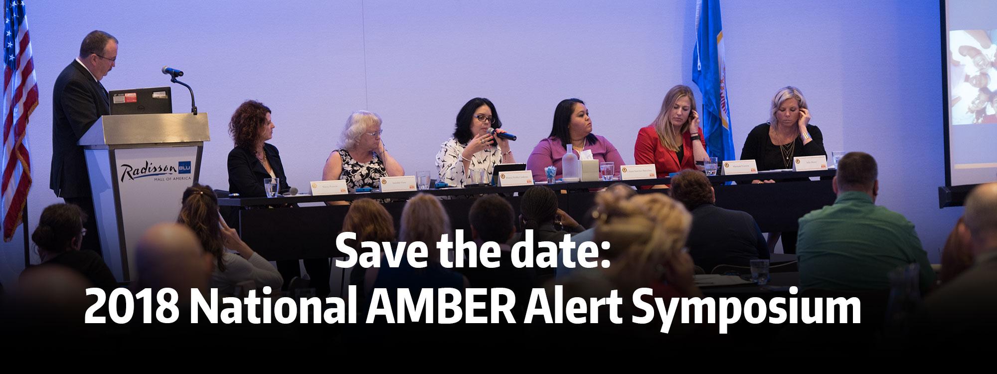 2018 AMBER Alert Symposium Save the Date