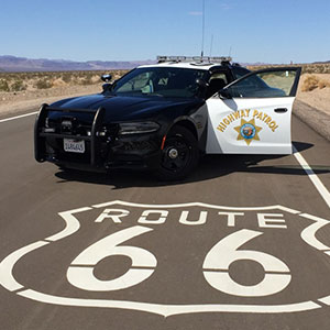 California Highway Patrol on Route 66