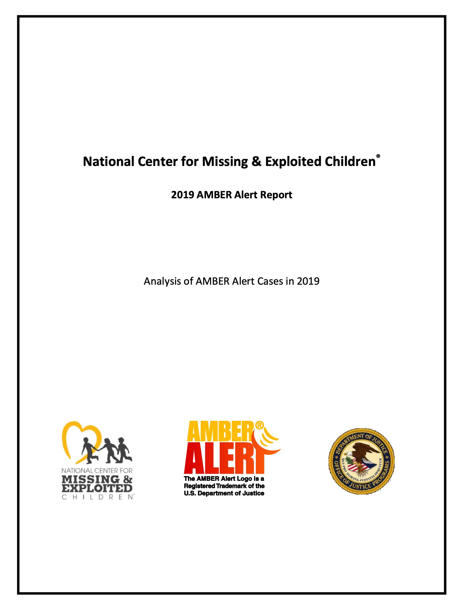 2019 AMBER Alert Report