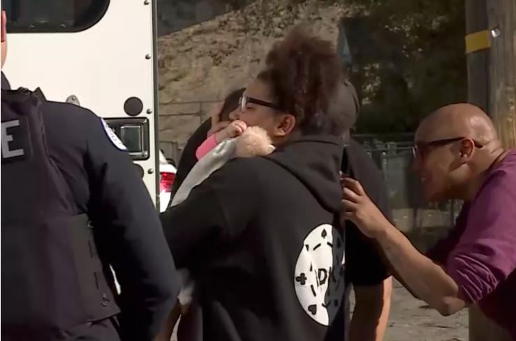 Breesha Spratley is reunited with her daughter, Amila Spratley-Apke